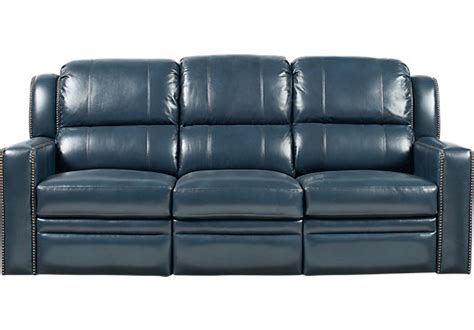 blue leather reclining sofa market avenue blue leather reclining sofa reclining