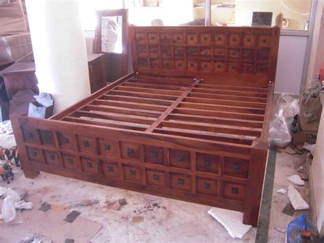 indian wooden storage bed wooden double bed wooden
