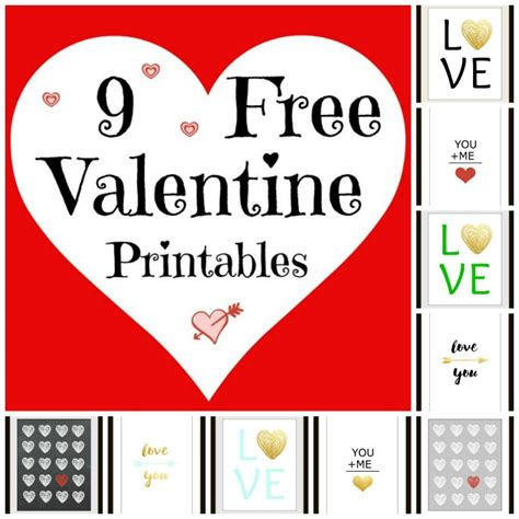 Browning Home Decor by 9 Free Valentine Printables The Red Painted Cottage