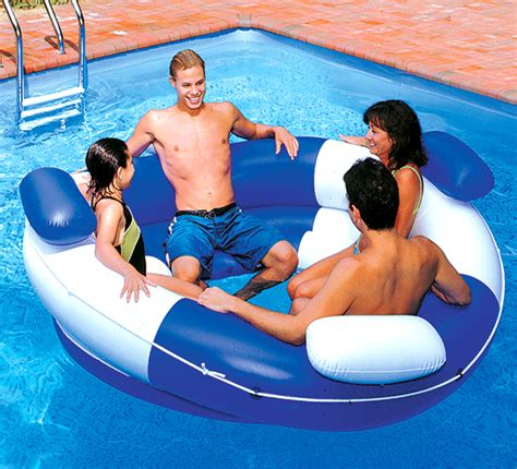 inflatable couch for pool new swimline 9051 swimming pool inflatable sofa island