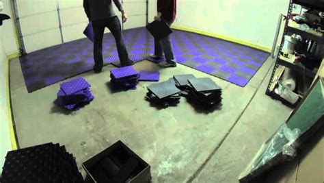 How to Install Grid Loc Garage Tiles   YouTube