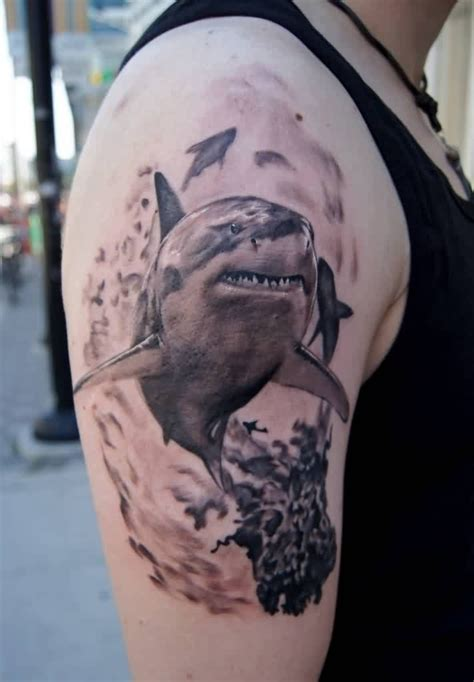 shark sleeve tattoo designs 57 popular shark tattoos and designs