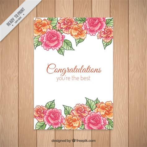 Wedding Congratulations Vector by Roses Congratulations Card Vector Free