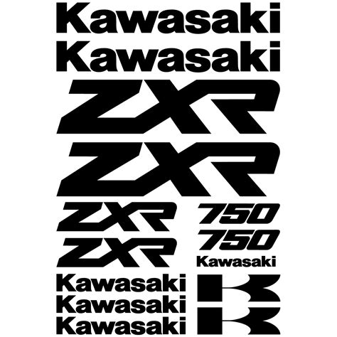 Sticker Origine Kawasaki by Stickers Kawasaki Zxr 750 Pas Cher