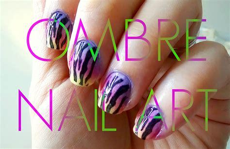 tutorial nail art ombre easy peasy ombre nail art