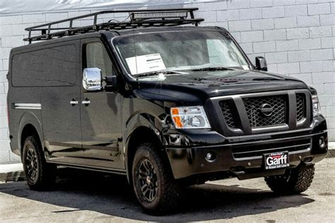 nissan nv with aluminess roof rack nissan nv aluminum