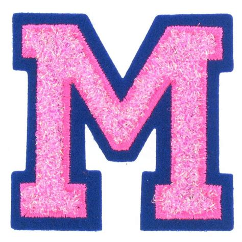 Christmas Decorations Made At Home by Hobbycraft Iron On Motif Letter M Pink