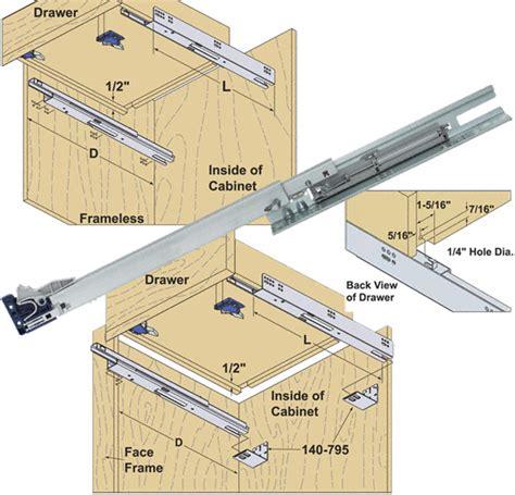 installing center undermount drawer slides kv drawer slides installation chest of drawers
