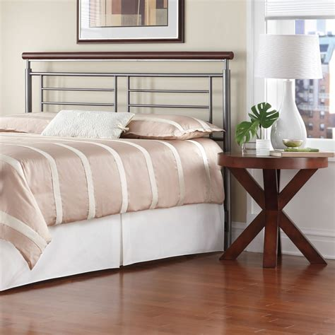 metal and wood headboard fashion bed group wood and metal beds king fontane