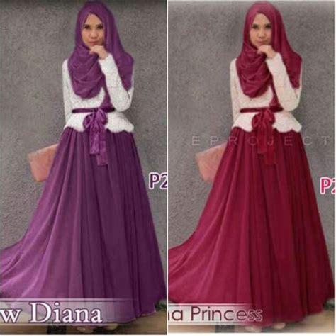 Gamis Remaja Warna Ungu baju gamis pesta brokat diana princess p254 busana muslim modern