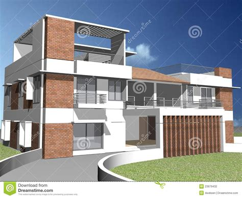 Small Home Builders In Delaware Maison 3d Duplex Photographie Stock Image 23979432