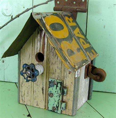 with recycled materials bird houses pinterest