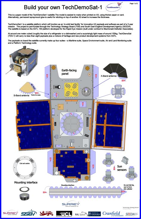 How To Make A Paper Spacecraft - space make your own satellite