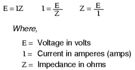 what is the formula for impedance of an inductor ac circuit equations useful equations and conversion factors electronics textbook