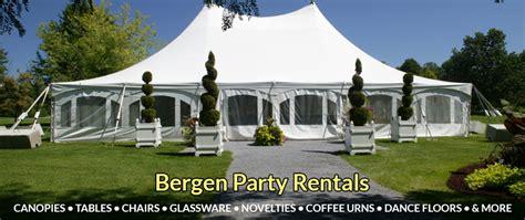 table and chair rentals nj bergen rentals jersey tent rentals
