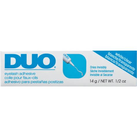 Duo Striplash Adhesive White Clear ardell duo striplash adhesive white 14g free shipping
