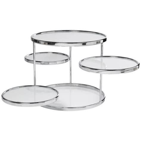 table basse ronde 4 plateaux verre blanc achat vente