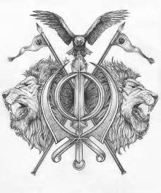 khanda tattoo design by pen tacular artist on deviantart