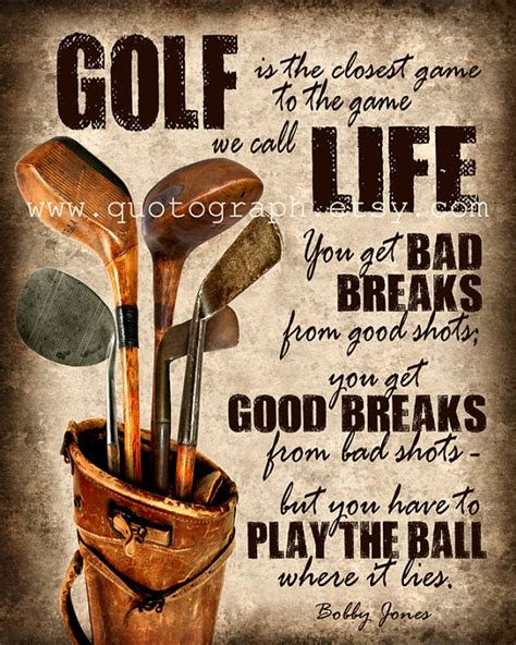 printable golf quotes bobby jones golf quote photo print poster wall art