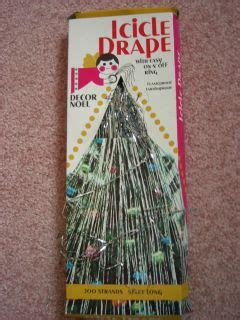 christmas tree tinsel drape vintage tree icicle tinsel drape 200 strands 5 ft on popscreen