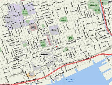 map of toronto maps of toronto