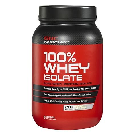 Whey Protein Isolated gnc pro performance 100 whey isolate vanilla 2
