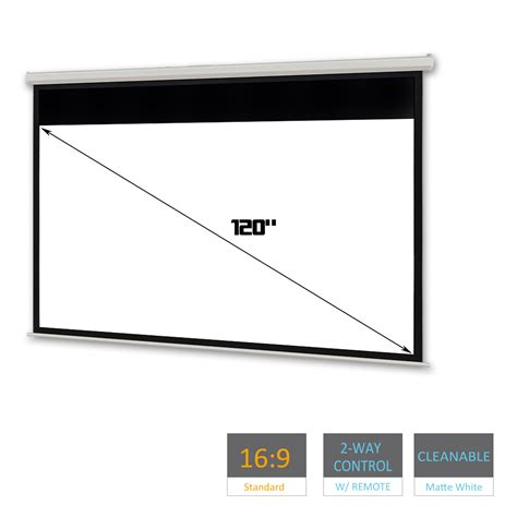 Screen Projector 120 Wall 120 quot electric motorised projector screen home theatre hd tv projection 3d 16 9 ebay