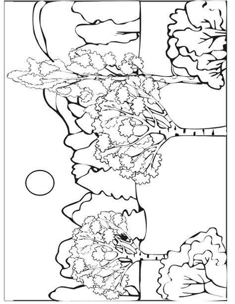 coloring pages of fall scenes autumn coloring page autumn scene