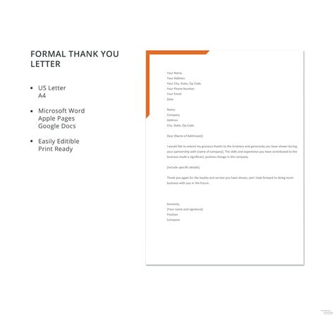 formal letter template microsoft word