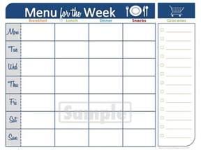 family menu planner template food the ocd mumma