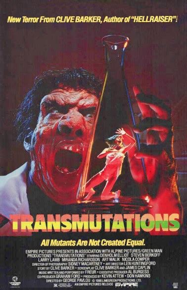 underworld film horror del 1985 transmutations 1986 a k a underworld