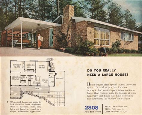 bhg home plans 1960 modern style small ranch house better homes