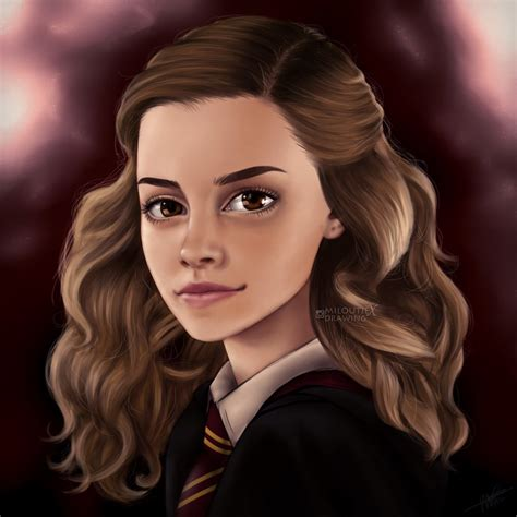 Hermione Granger Pics by Watson As Hermione Granger By Miloutjexdrawing On