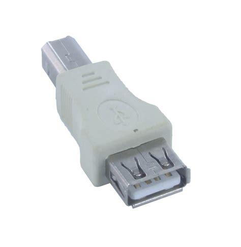 converter usb usb type a female to usb type b male printer adapter