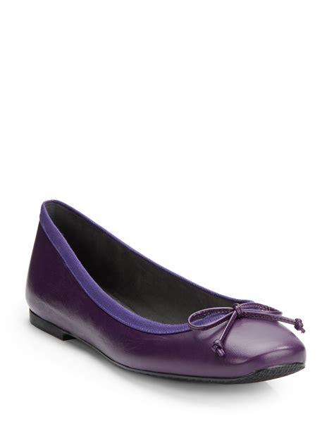 stuart weitzman sofa shoe stuart weitzman shoe string leather ballet flats in purple