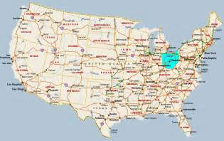 Ohio Map Usa map of ohio usa pictures to pin on pinterest