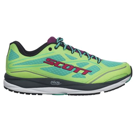 structured running shoes palani support for in green and purple at