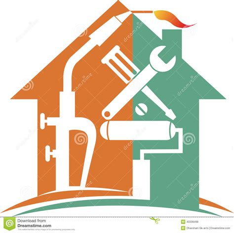 home repair logo stock vector illustration of artwork