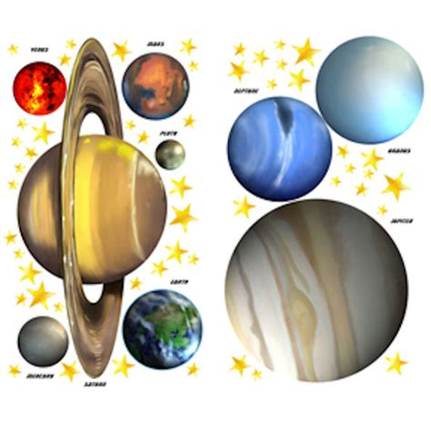 space stickers for walls solar system cut outs pics about space
