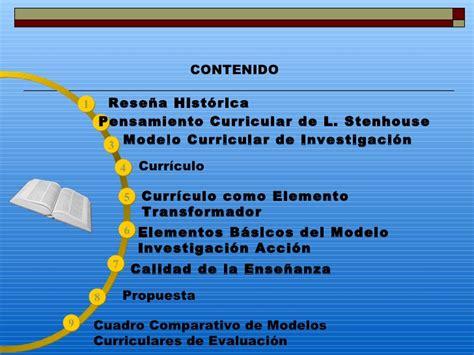 Modelo Curricular De Stenhouse 2 Stenhouse G9