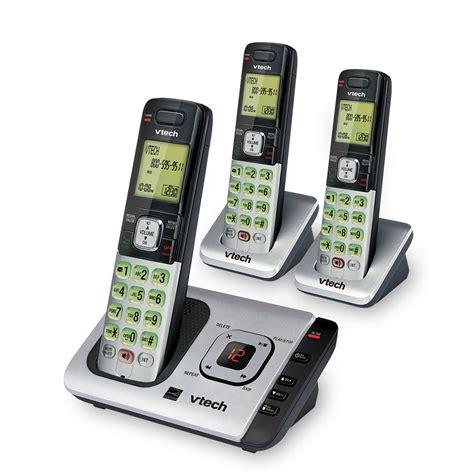 vtech cs6729 3 dect 6 0 expandable cordless phone with
