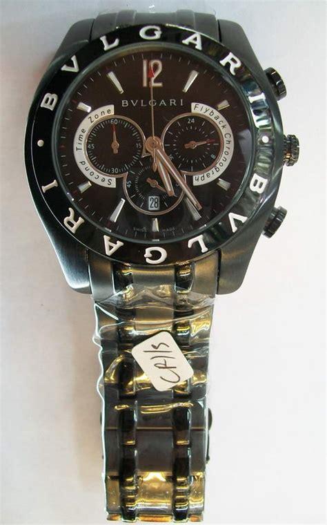 Jam Tangan Pasangan Bvlgari Stainless Rantai Black jam tangan original