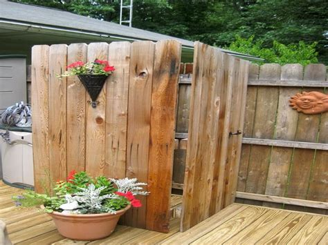 outdoor shower on deck planning ideas how to build diy outdoor shower plans