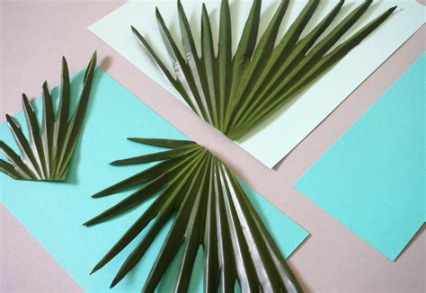 How To Make Paper Palm Trees - diy tropical with palm leaves