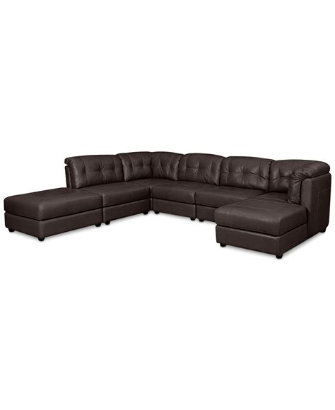 Fabian Leather Modular Sectional Sofa From Macys Cabin Leather Modular Sectional Sofa