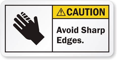 Etiketten Zeichen by Avoid Sharp Edges Ansi Caution Label Free Shipping Sku