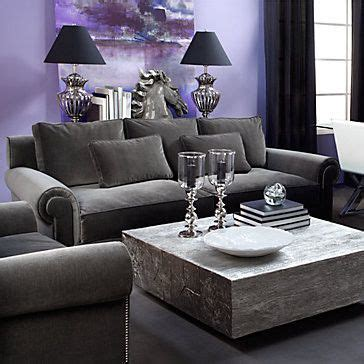 Charcoal And Purple Living Room Loving This Rooms Silver Table Ls Living Room