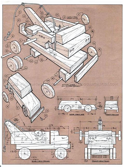 wooden toy tow truck plans woodarchivist