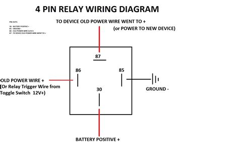 4 pin relay wiring diagram 26 wiring diagram images