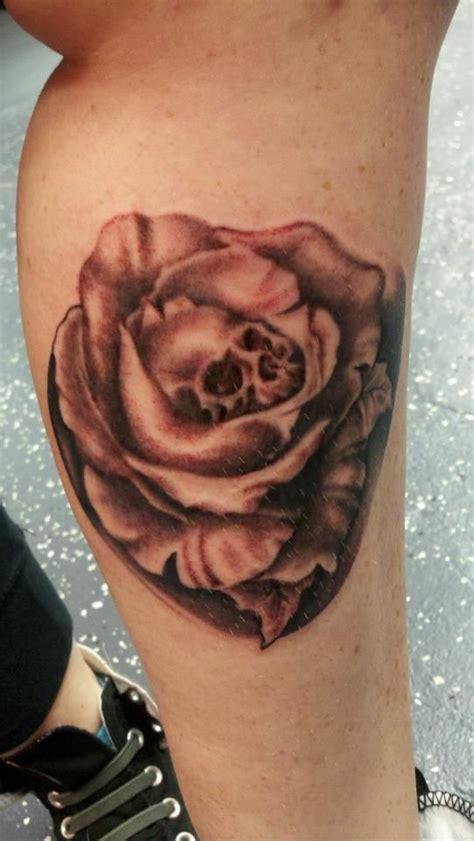100 proof tattoo skull by caraballo tattoos by 100